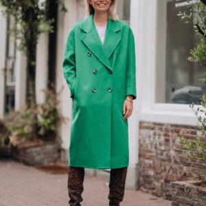 Groene wollen jas American Vintage Iconic Wardrobe