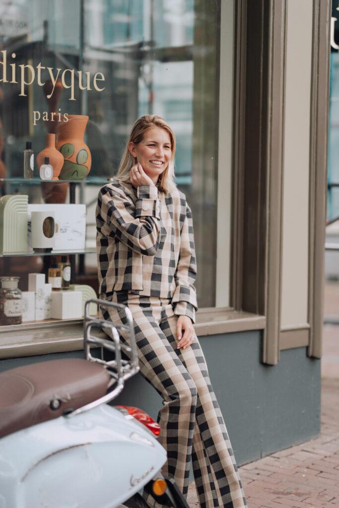 Geblokte broek OU Boutique Iconic Wardrobe
