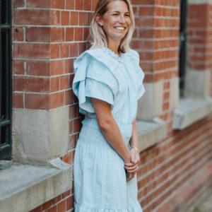 Lichtblauwe jurk Stella Nova